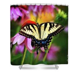 Garden Jewelry Shower Curtain by Lois Bryan