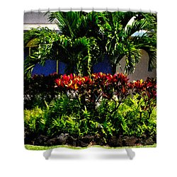 Garden Landscape 4 In Abstract Shower Curtain