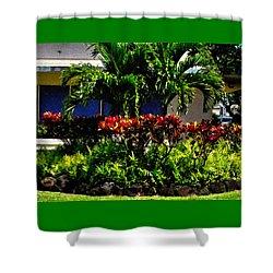 Garden Landscape 4 In Abstract Shower Curtain