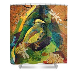 Garden Life Shower Curtain by Buff Holtman