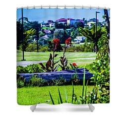 Garden Log Shower Curtain