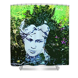 Garden Nymph Head Planter Shower Curtain
