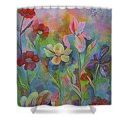 Garden Of Intention - Triptych Center Panel Shower Curtain