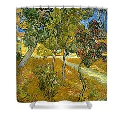 Garden Of Saint Paul's Hospital Shower Curtain by Vincent van Gogh