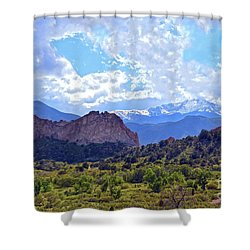 Garden Of The Gods Shower Curtain by Catherine Sherman