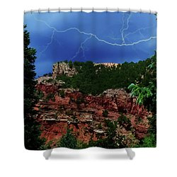 Shower Curtain featuring the digital art Garden Of The Gods by Chris Flees