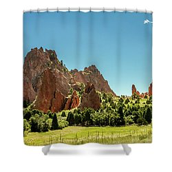 Shower Curtain featuring the photograph Garden Of The Gods II by Bill Gallagher