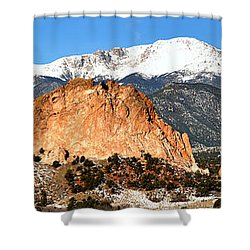 Shower Curtain featuring the photograph Garden Of The Gods Medium Panorama by Adam Jewell