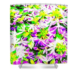 Shower Curtain featuring the photograph Garden Party by Jesse Ciazza