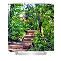 Shower Curtain featuring the photograph Garden Path by Jim Walls PhotoArtist