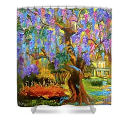 Garden Pathway Shower Curtain by Jenny Lee