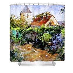 Garden Pleasures Shower Curtain by Rae Andrews