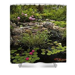 Garden Pond - D001133 Shower Curtain