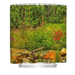 Garden Rocks Shower Curtain