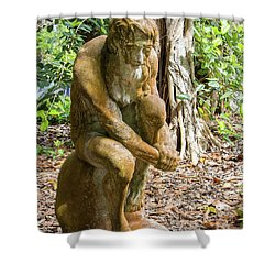 Garden Sculpture 3 Shower Curtain
