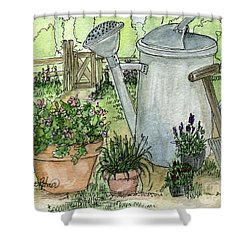 Garden Tools Shower Curtain
