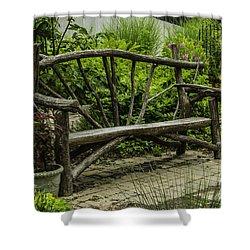 Garden Tree Bench Shower Curtain