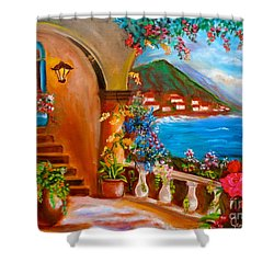 Garden Veranda 1 Jenny Lee Discount Shower Curtain