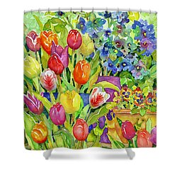 Garden Visitors Shower Curtain
