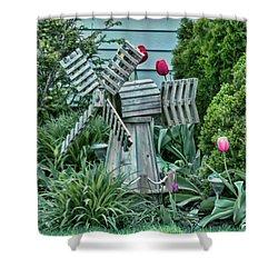 Garden Windmill Shower Curtain
