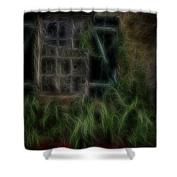 Garden Window 2 Shower Curtain by William Horden