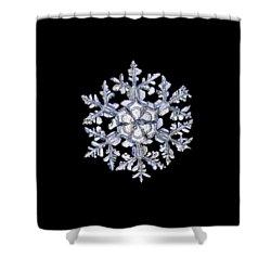 Gardener's Dream, White On Black Version Shower Curtain by Alexey Kljatov