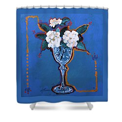 Gardenias Shower Curtain