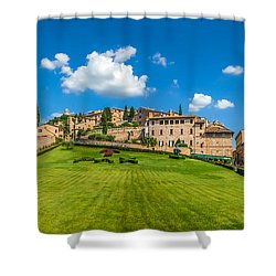 Gardens Of Assisi Shower Curtain