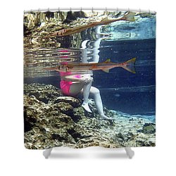 Garfish Shower Curtain