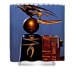 Shower Curtain featuring the photograph Gargoyle Hood Ornament 3 by Jill Reger