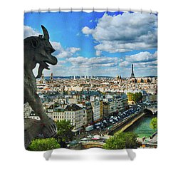 Gargoyle With A View Shower Curtain