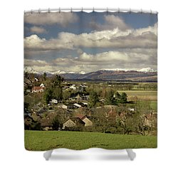 Shower Curtain featuring the photograph Gargunnock by RKAB Works