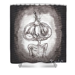 Garlic Boy Shower Curtain by Christophe Ennis