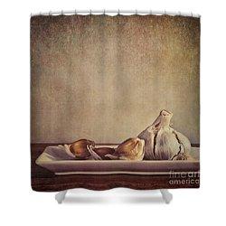 Garlic Cloves Shower Curtain by Priska Wettstein