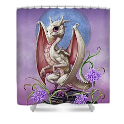 Shower Curtain featuring the digital art Garlic Dragon by Stanley Morrison