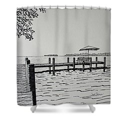 Garlic Island Lake Winnebago Shower Curtain