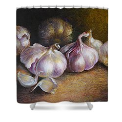Garlic Painting Shower Curtain