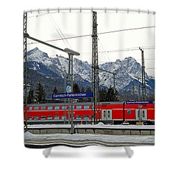 Garmisch-partenkirchen In Winter Shower Curtain