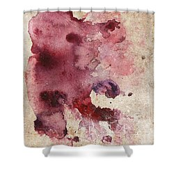 Garnet Color Splash Shower Curtain