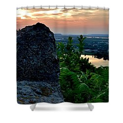 Garvin Heights Sunset Shower Curtain