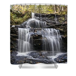 Shower Curtain featuring the photograph Garwin Falls, Wilton, Nh by Betty Denise