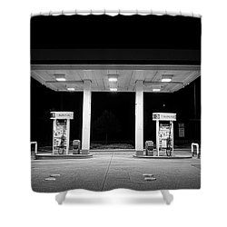 Gas At Night Shower Curtain by John Rossman