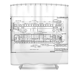 Gas Electric Car Diagram Shower Curtain