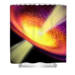 Gas Jet Shower Curtain by Corey Ford
