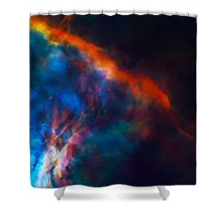 Gas Plume Orion Nebula 2 Shower Curtain by Jennifer Rondinelli Reilly - Fine Art Photography