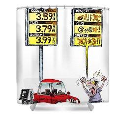 Gas Price Curse Shower Curtain
