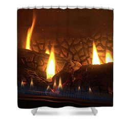 Gas Stove Flame Shower Curtain