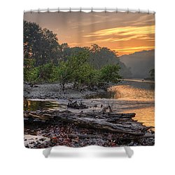 Gasconade River Shower Curtain by Robert Charity
