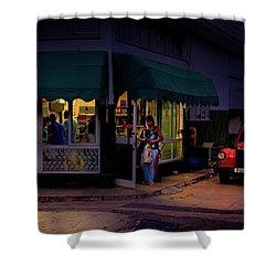 Shower Curtain featuring the photograph Gasolinera Linea Y Calle E Havana Cuba by Charles Harden