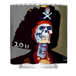 Gasparilla Pirate Fest Poster Shower Curtain by David Lee Thompson